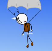 Airship parachute