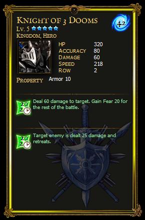 Knight of 3 Dooms
