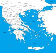 Map of Greece in Xenaverse by Dylan MacFarlane