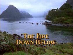 Fire below title
