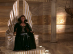 Hera in the throne of zeus