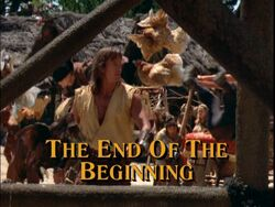 End of the Beginning Title