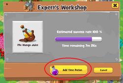 Add Time Potion