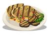 Grilled Halibut & Eggplant