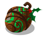 Green Wooden Bauble