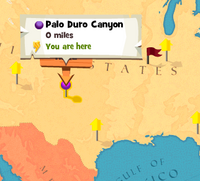 Palo Duro Canyon worldmap