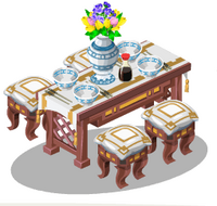 Set Dinner Table & Chairs