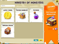 Ministry shop categories
