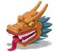 Wooden Dragon Head