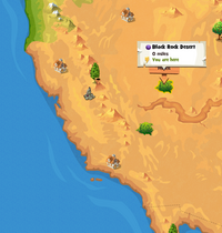 Black Rock Desert location map