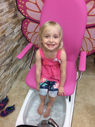 Kaitlyn at a salon