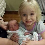 Kaitlyn and newborn Kylee