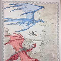 Eragon saute de Saphira à Thorn