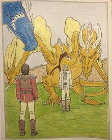 Eragon et Saphira rencontrent Oromis et Glaedr