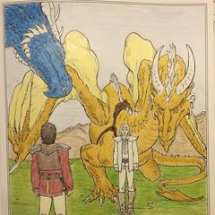 Eragon et Saphira rencontrent Oromis et Glander
