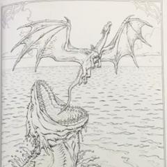Eragon et Saphira échappent à un Nïdhwal