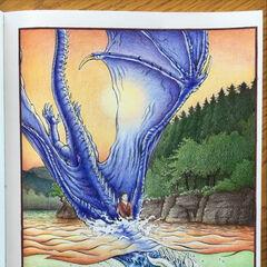 Saphira et Eragon au Lac Leona