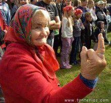 Abuela mal genio