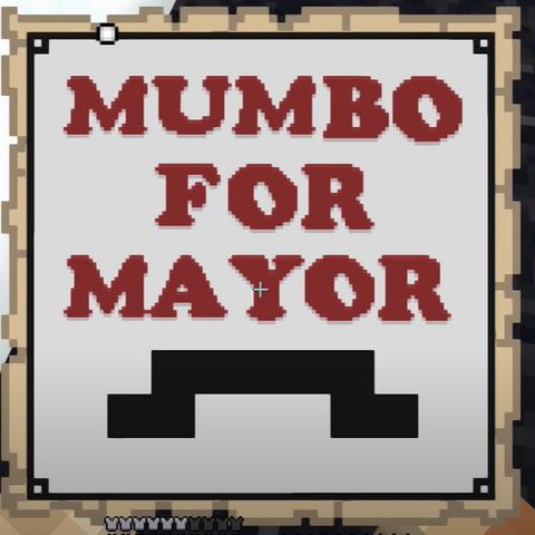 The Mumbo for Mayor map used to advertise MumboJumbo's campaign
