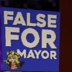 FalseSymmetry's map to advertise her mayor campaign