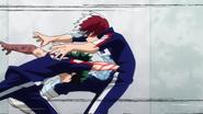Izuku punches Shoto