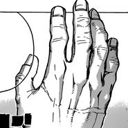 Izuku's hand