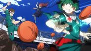 Izuku dodges an ambush