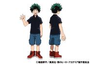 Izuku Midoriya Casual TV Animation Design Sheet