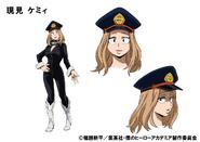 Camie Utsushimi TV Animation Design Sheet