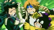 Denki and Minoru hound Izuku