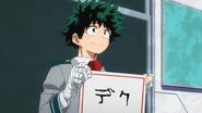 Izuku chooses deku as his hero name