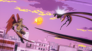 Hawks assists Endeavor in the battle