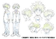 Izuku Midoriya Uniform Shading TV Animation Design Sheet