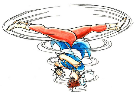 Street Fighter II Chun-Li-Spinning Bird Kick