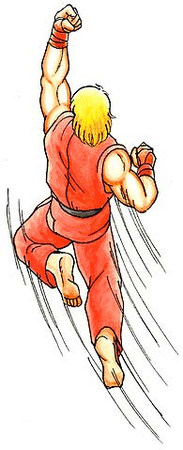 Street Fighter II Ken-shoryuken-artwork