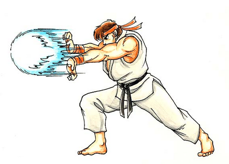 Street Fighter II Ryu-hadoken-artwork