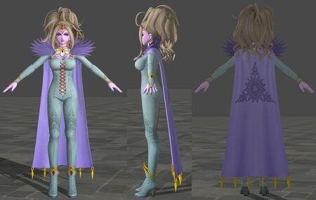 Krystalinda 3D Model for Dragon Quest XI