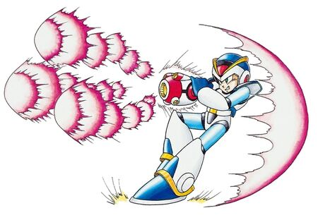 Spiral Crush Buster for Mega Man X