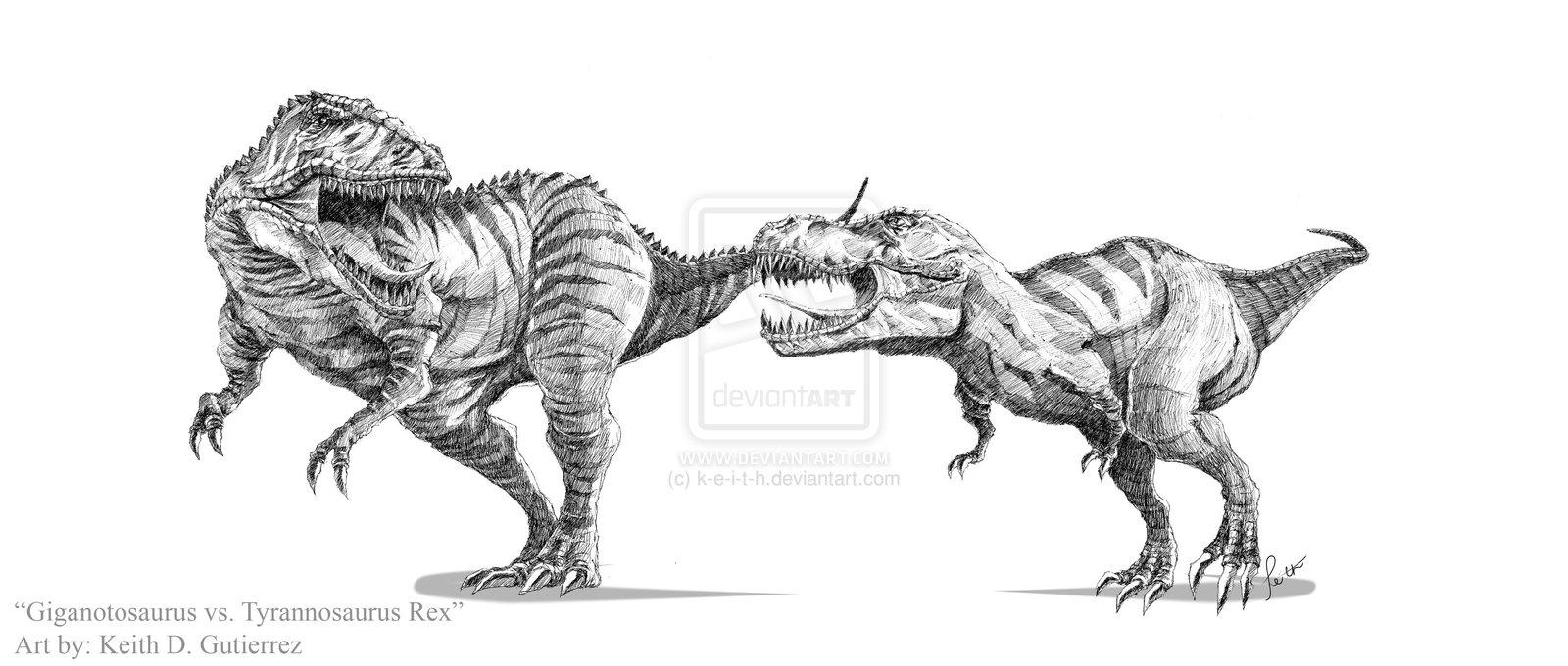 image giganotosaurus vs tyrannosaurus rex by k e i t h d5y3kzj jpg
