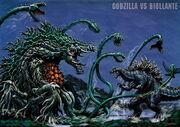 Godzilla fights Biollante