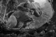 King Kong fights the T-Rex