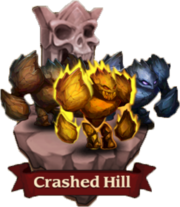 Image-crashed hill