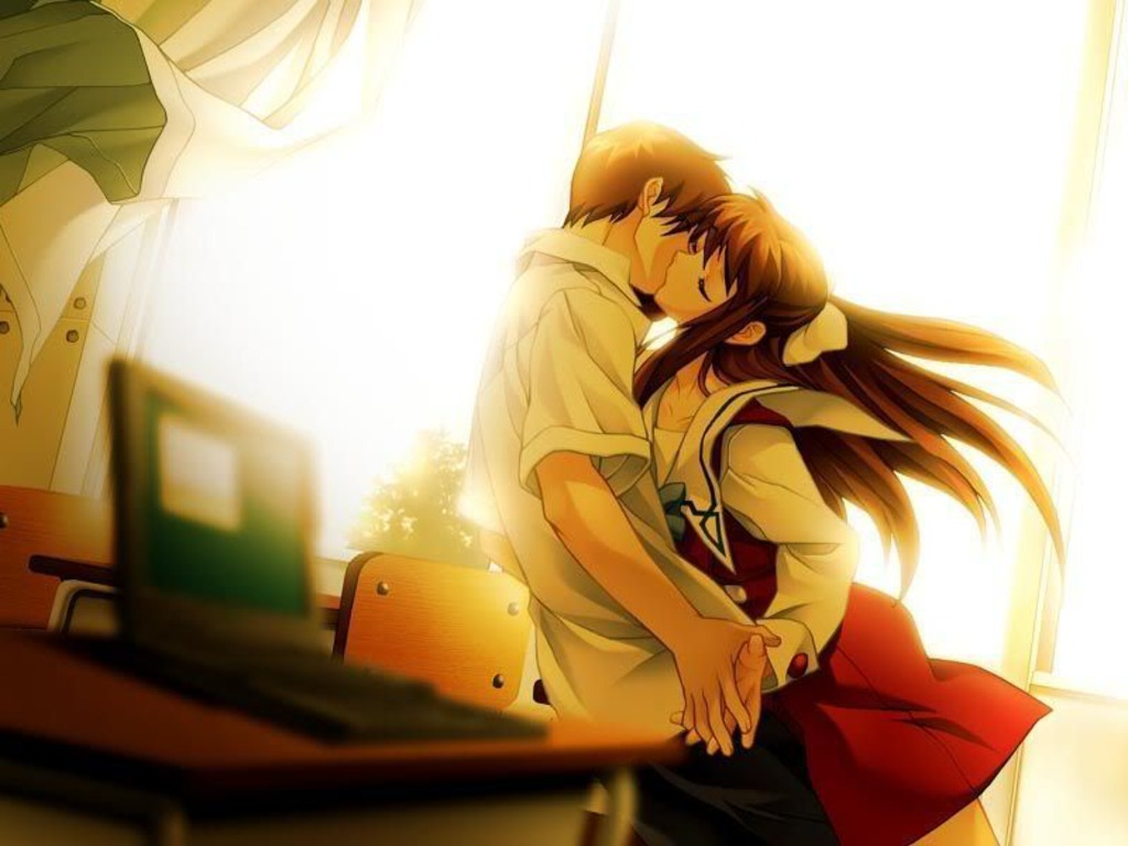 Anime Kiss Screensavers Free Play Games An3d Sen3d Ecards