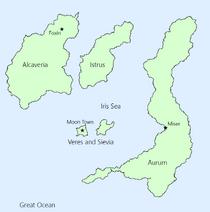 Iris Islands with Cities