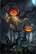 Squelette citrouille 1