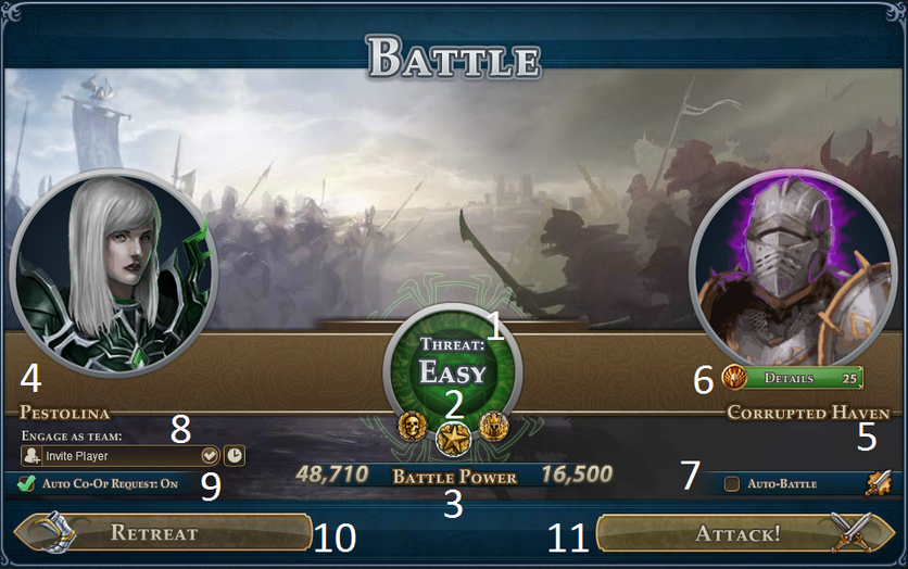 Battle Engagement Interface