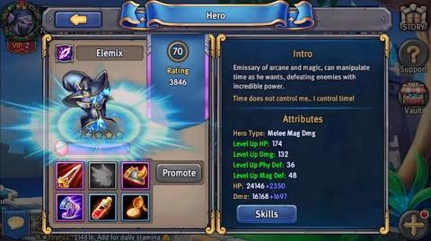 Heroes Tactics Elemix 70lvl 5*