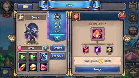 Heroes Tactics Zorak 70lvl