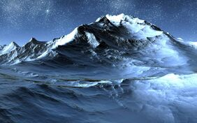 Icy-mountain-Wallpaper