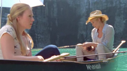 Amy and Andrea are fishing